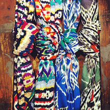 please click image to view these scarves in full detail