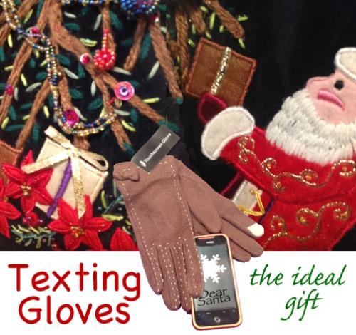 santa tree glove